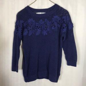 Lauren Conrad Open Weave Sweater Size S